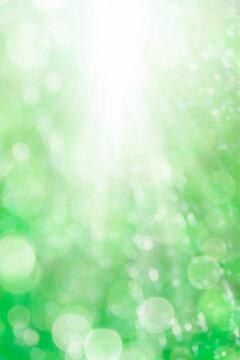 ボケた緑の背景イメージ