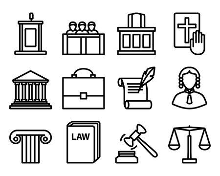 Lawyer Icon Set