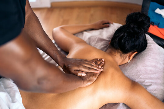 Relaxing Back Massage in Spa