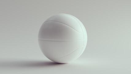 Obraz White Basketball Clean Mock up Faces 3d illustration render - fototapety do salonu