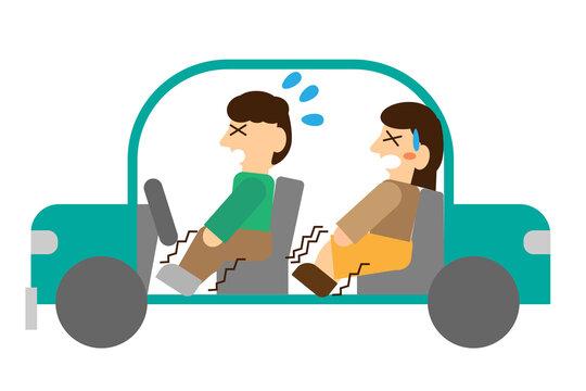 長い時間同じ姿勢で車にいたためエコノミークラス症候群になってしまった人たち