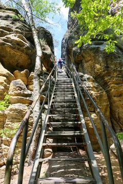 Sächsische Schweiz - Klamm mit Aufstieg zum Rauenstein auf dem Malerweg