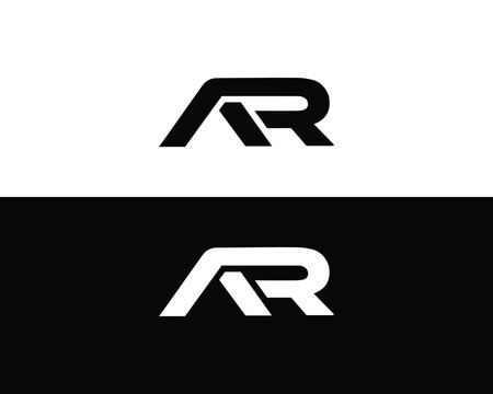 AR Letter Logo And Icon Design Vector Illustration.