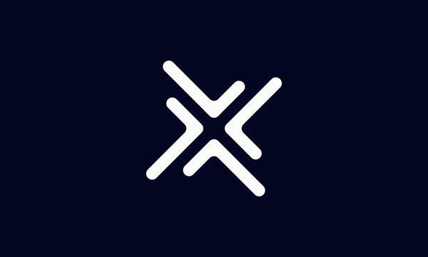 Modern Trendy Minimal Monogram X For Business, Initial Based letter X Icon Logo