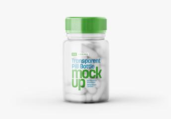 Obraz Transparent Pill Bottle Mockup - fototapety do salonu