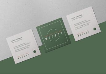 Fototapeta Square Business Cards Mockup obraz