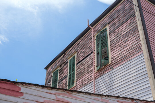 Side of Old House Showing Wear and Disrepair