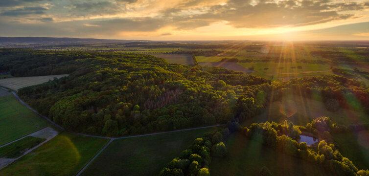Abendlicht am sommerlichen Benther Berg bei Hannover