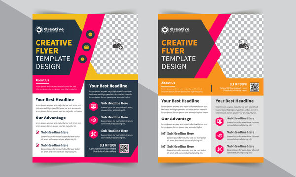 Modern And Creative brochure design, cover layout, annual report, poster, corporate flyer A4 size Template Design