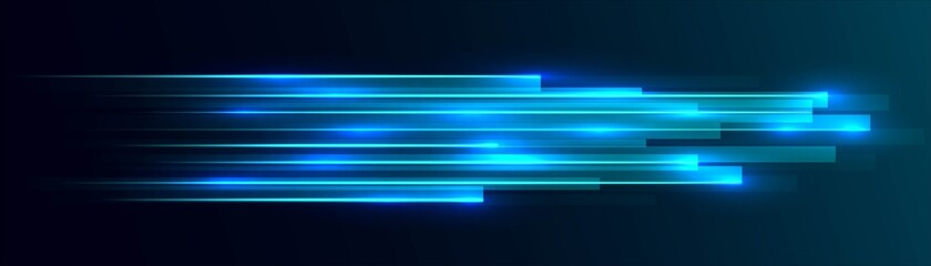 Obraz Neon abstract background, texture glowing rectangles, geometric shapes, LED strip design, technology background, straight lines, shooting stars, milky way, splash screen, vector illustration - fototapety do salonu