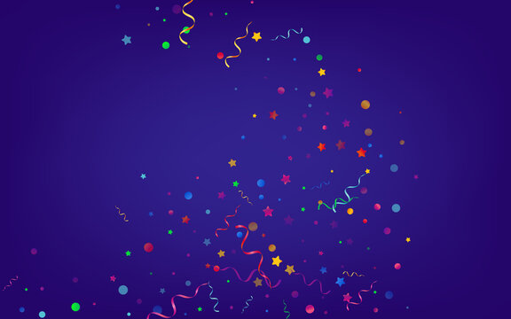 Variegated Circles Celebrate Vector Blue