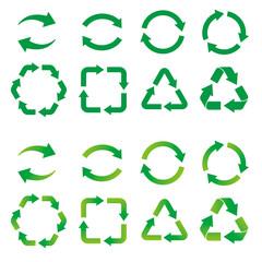 Fototapeta リサイクル・循環の矢印アイコンセット 正面 obraz