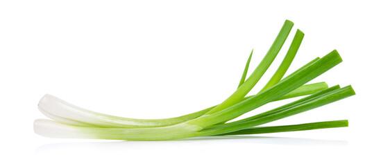 Fototapeta Green onion isolated on white background obraz