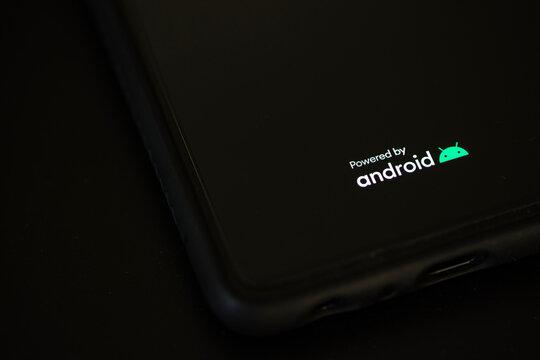 siegen, north rhine westphalia/germany - 02 06 2021: smartphone powered by android