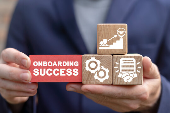 Business concept of onboarding success.