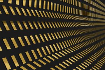 Złote paski 3d na czarnym tle