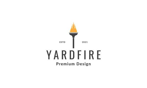 yard torch logo symbol vector icon illustration graphic design