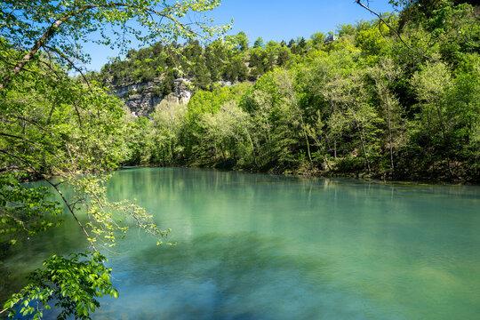 Natural spring in Ha Ha Tonka State Park - Lake of the Ozarks Missouri