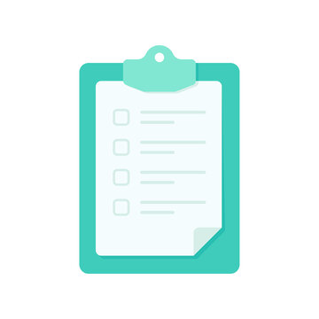 Clipboard for taking notes Text box for checklist items to validate.