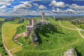 Obraz Szlak Orlich Gniazd -zamek w Olsztynie koło Częstochowy - fototapety do salonu