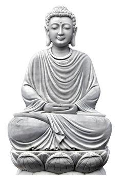 Buddha sculpture Lotus Pose sitting in meditation