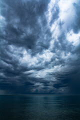 Obraz Boat and cloud storm for background - fototapety do salonu
