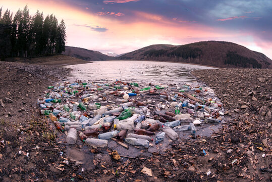 A sea of plastic waste