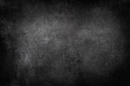Dark black wall texture, grungy background