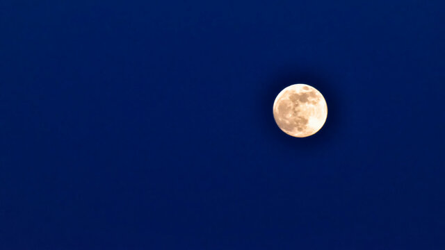 Full Moon. Full moon in the fields of Castilla la Mancha, Spain