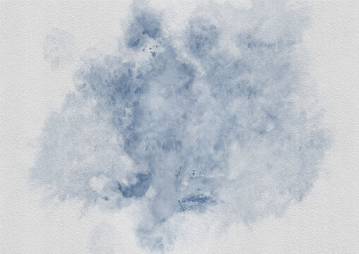 Bright grungy background. Blue on white. Watercolor background.