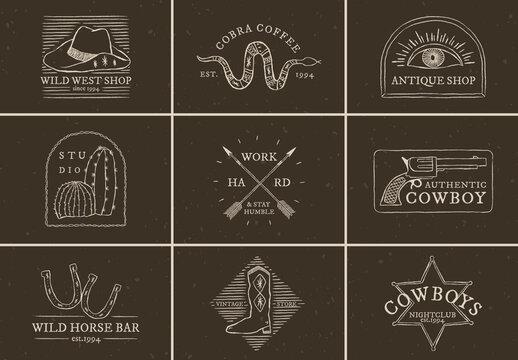 Cowboy Themed Logo Collection