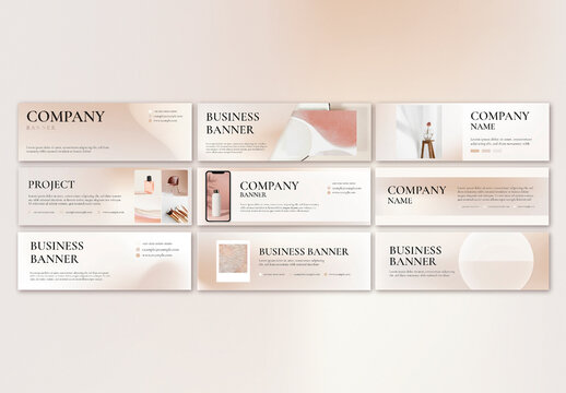 Business Banner Layout for Beauty Brand