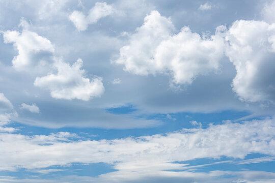 Beautiful clouds in windy weather