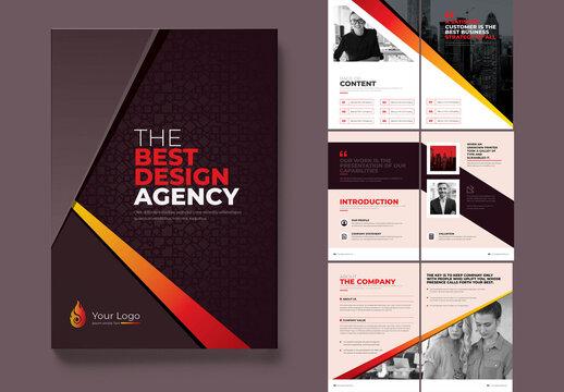 Corporate Business Bi-Fold Brochure Template