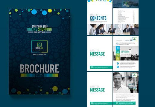 Product Catalog Magazine Bi-Fold Brochure Indesign Template