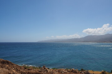 Widok z morze i góry, Kreta, Grecja