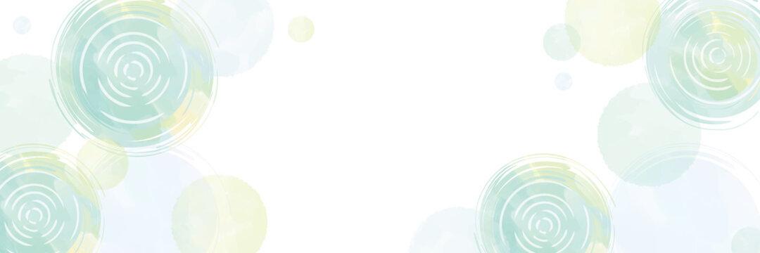 水面と水玉 水彩風タッチ背景