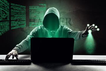 Hacker - Cyber Kriminalität - fototapety na wymiar