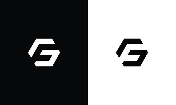 g f gf fg initial logo design vector graphic idea creative