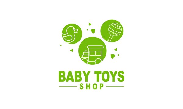 Baby shop toy shop and baby product logo