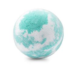 Fototapeta One colorful bath bomb isolated on white obraz