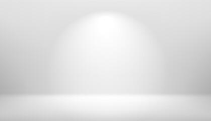 Bright white interior scene with light beam