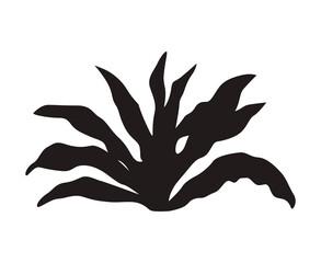 Obraz bush garden silhouette - fototapety do salonu