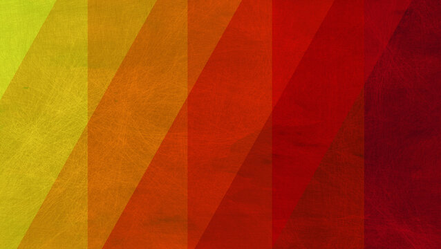 abstract colorful red orange and yellow background of stripes and old grunge texture, geometric pattern with diagonal pattern in warm colors