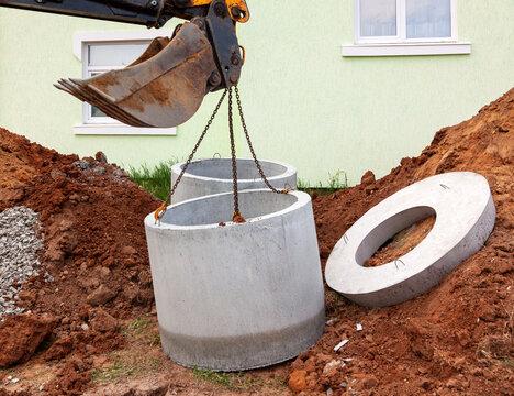 Installation of underground tank for sewage system