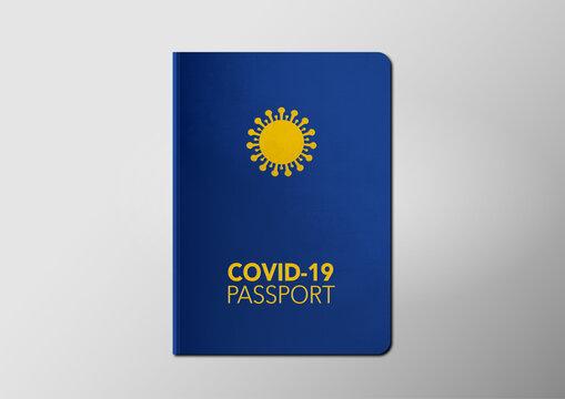 Vaccine passport. Covid-19 immunity document. Vaccination certificate. Travelling and business during coronavirus pandemic. New normal.