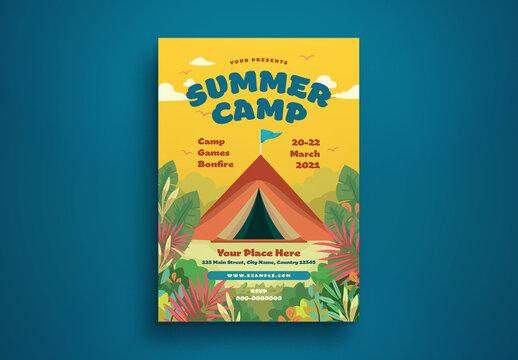 Summer Camp Flyer Layout