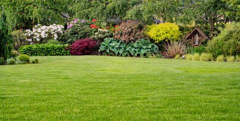 Obraz Trawnik w ogrodzie - fototapety do salonu