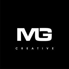 Fototapeta MG Letter Initial Logo Design Template Vector Illustration obraz