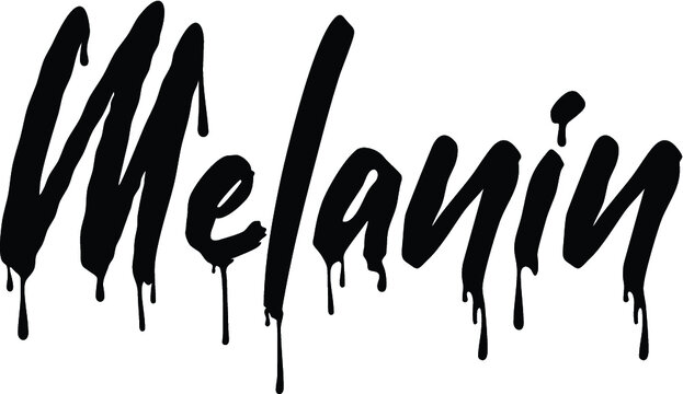 Vector illustration of the melanin melting sign